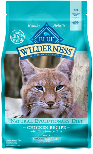 BLUE Wilderness® Indoor Hairball Control Chicken Recipe For Adult Cats