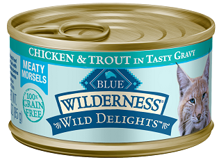 BLUE Wilderness® Wild Delights™ Meaty Morsels Chicken & Trout Recipe For Adult Cats