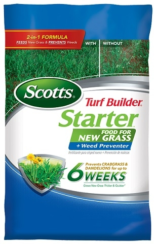 Turf Builder Starter Food For New Grass Plus Weed Preventer 5M