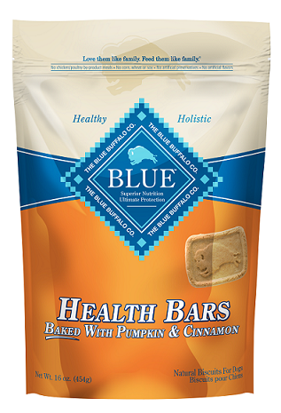 BLUE™ Health Bars Baked with Pumpkin and Cinnamon Natural Biscuits for Dogs