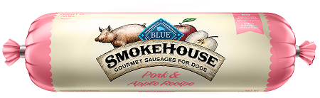 BLUE Smokehouse™ Gourmet Sausages Pork & Apple Meat Rolls for Dogs