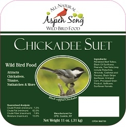 Aspen Song® Chickadee Suet 11oz