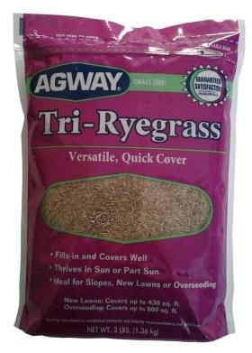 Agway Tri-Ryegrass Mix 3lb, 10lb, 25lb