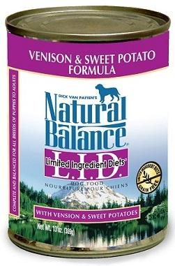 Natural Balance L.I.D. Limited Ingredient Diets® Venison & Sweet Potato Canned Dog Formula