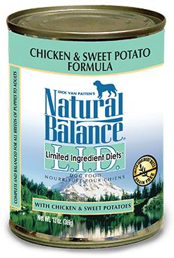 Natural Balance L.I.D. Limited Ingredient Diets® Chicken & Sweet Potato Canned Dog Formula