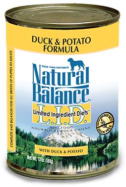 Natural Balance L.I.D. Limited Ingredient Diets® Duck & Potato Canned Dog Formula