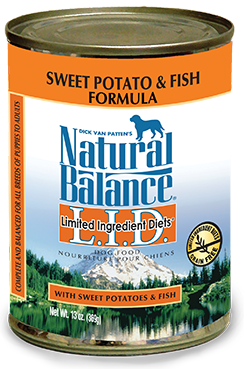 Natural Balance L.I.D. Limited Ingredient Diets® Sweet Potato & Fish Canned Dog Formula