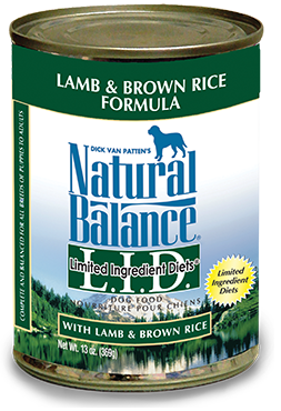 Natural Balance L.I.D. Limited Ingredient Diets® Lamb & Brown Rice Canned Dog Formula