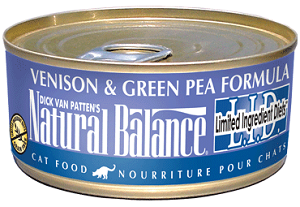 Natural Balance L.I.D. Limited Ingredient Diets® Venison & Green Pea Canned Cat Formula