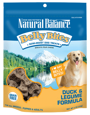 Natural Balance Belly Bites™ Duck & Legume Semi-Moist Treats 6oz