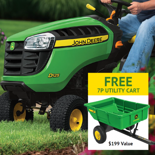 FREE Yard Cart with D100 Series Lawn Mower