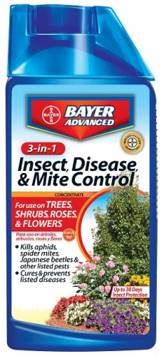 Bayer 3-In-1 Insect, Disease & Mite Control 32Oz. Concentrate