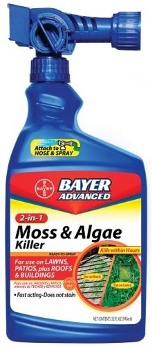 Bayer 2-In-1 Moss & Algae Killer 32Oz. Ready-to-Spray
