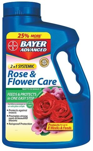 Bayer 2-In-1 Systemic Rose & Flower Care 5Lb. Granules