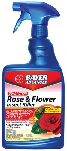 Bayer Dual Action Rose & Flower Insect Killer 24Oz. RTU Spray