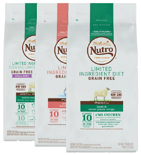 NEW! Nutro LID Grain-Free Diets Select 4lb: $9.99