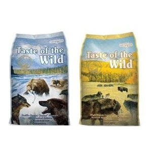 30lb Taste of the Wild Grain Free Dog Food $42.99