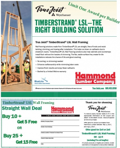 TimberStand Straight Wall Deal - Engineered Lumber