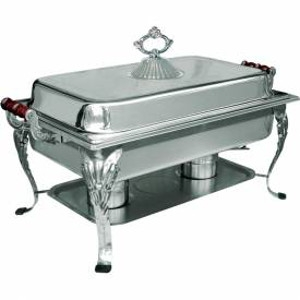 Ornate Rectangle 8 QT Chafer