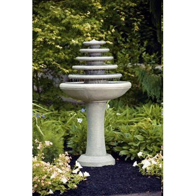 Five Tier Gozo Cement Fountain